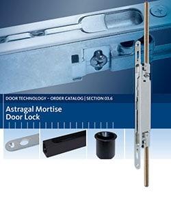 ASTRAGAL MORTISE DOOR LOCK